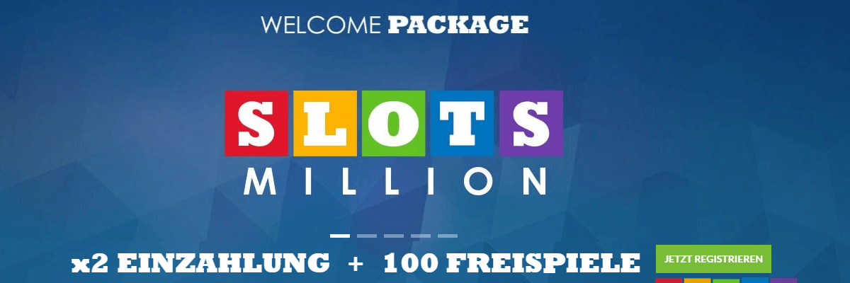 Slots Million Willkommens Bonus