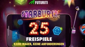 25 Freispiele ohne Umsatz im Futuriti Casino