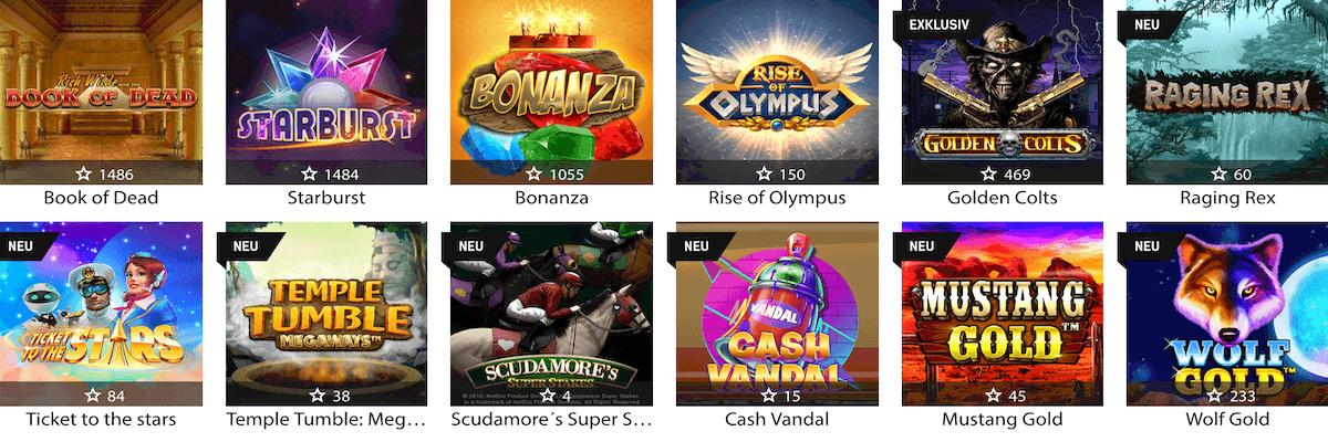 Redbet Casino Spiele