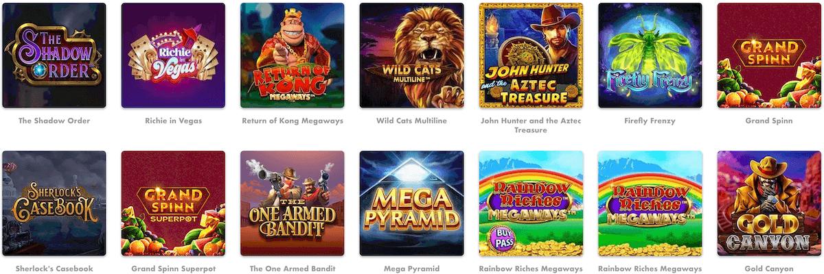 Slotty Vegas Spiele