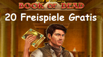 20 Book of Dead Freispiele Gratis im Slots Million