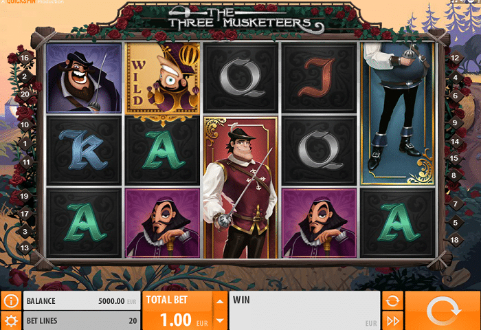 The Three Musketeers Quickspin