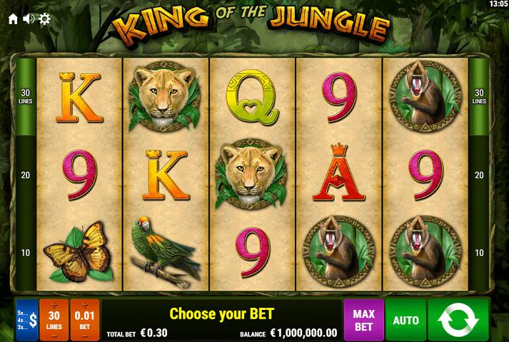 King of the Jungle Gamomat