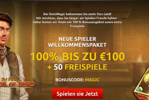 Slots Magic Willkommen Bonus