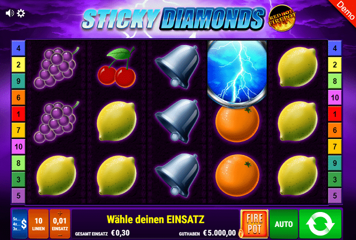 Sticky Diamonds Gamomat