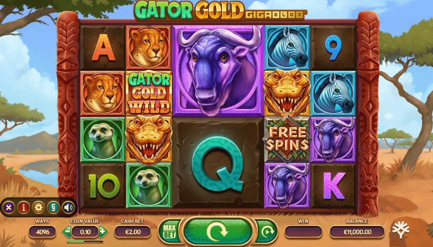 Gator Gold Gigablox Yggdrasil