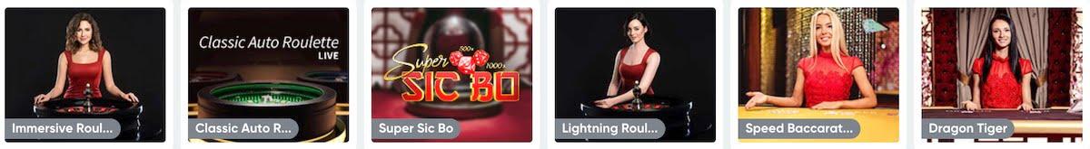 Boom Casino Live Spiele