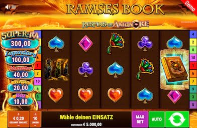 Ramses Book Respin of Amun Re Slot