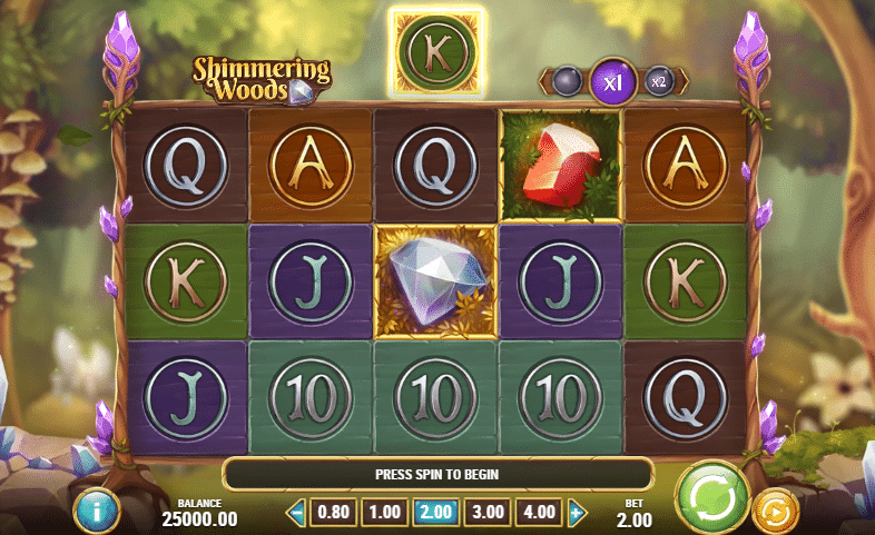 Shimmering Woods Playn Go gratis Spiel