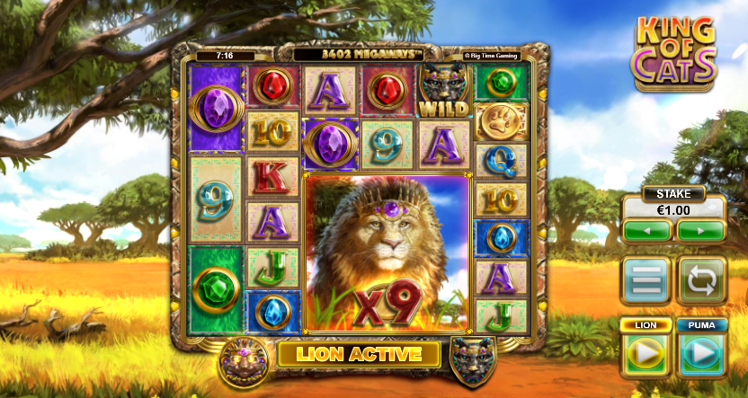 King of Cats Megaways Big Time Gaming